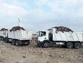 وحدة التدخل السريع ترفع 360 طن قمامة من كفر أبو الديب بالشرقية