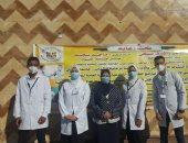 جامعة حلوان تنظم قوافل طبية واجتماعية للمناطق العشوائية الأكثر احتياجاً