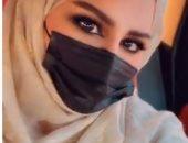 أحلام فى أحدث ظهور لها بالحجاب والكمامة: صباحى محبتكم .. فيديو