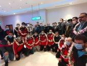 وزير الرياضة ورئيس الأولمبية يستقبلان منتخب الجودو أبطال أفريقيا بمطار القاهرة