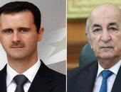 بشار الأسد يعرب عن سعادته بتعافى الرئيس الجزائرية عبد المجيد تبون من كورونا