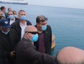 وزير النقل يتابع أعمال التطوير والمشروعات الجارى تنفيذها فى ميناء سفاجا البحرى