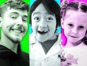 """فوربس تكشف أكثر 10 أشخاص ربحا من يوتيوب × 2020.. حصدوا أكثر من 2 مليار دولار.. الطفل """"ريان كاجى"""" يتربع على القمة بأرباح 38.9 مليون دولار.. وطفلة عمرها 6 سنوات تنافس بالمركز السابع بعدد مشتركين 190 مليون شخص"""