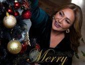 """Merry Christmas.. ليلى علوى وهانى رمزى وأمل حجازى يحتفلون بـ""""الكريسماس"""""""
