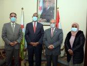 سفير جيبوتى بالقاهرة يستقبل رئيس جامعة طنطا