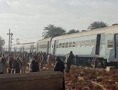 عودة حركة قطارات الصعيد بعد خروج قطار  الأقصر - الإسكندرية عن القضبان بقنا