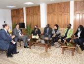 وفد من جنوب السودان والكونغو الديمقراطية والبرازافيلية يزور جامعة أسيوط