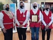 وزيرة التضامن تكرم فريق الهلال الأحمر بالوادى الجديد باليوم العالمى للتطوع