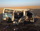 إصابة 4 أشخاص فى حادث انقلاب سيارة أجرة بأسوان