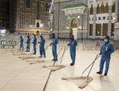 رئاسة الحرمين تنشر 20 فرقة لمكافحة الحشرات والأوبئة فى المسجد الحرام.. صور