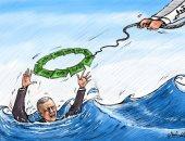 قطر تنقذ اقتصاد أردوغان بملايين الدولارات فى كاريكاتير إمارتي