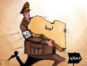 الاحتلال التركى يتدخل فى شئون ليبيا تحت مزاعم الديمقراطية بكاريكاتير إماراتى