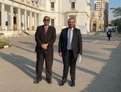 عباس وكريم السادات يتسلمان بطاقات عضويتهما بمجلس النواب الجديد