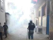 استمرار رش وتطهير الشوارع والمنشآت والمساجد بكفر الشيخ لمواجهة الموجة الثانية