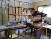 تطهير وتعقيم المنشأت الخدمية لمواجهة فيروس كورونا فى الشرقية
