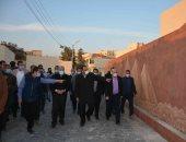 محافظ المنيا يتفقد أعمال تطوير مسار العائلة المقدسة بمنطقة دير جبل الطير.. صور