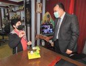 """""""تعليم المنوفية"""" تكرم الطالب ممثل مصر فى المسابقة الأفريقية للربوت"""