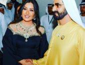 لطيفة تمدح حاكم دبى بصورة قديمة تجمعهما: زعيم وقائد قلبه على كل الناس