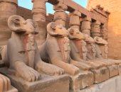 إنقاذ طريق الكباش فى معبد الكرنك بأيدٍ مصرية × 50 صورة