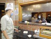 محافظ دمياط فى جولة ميدانية لمتابعة التزام المطاعم والكافيتريات بالإجراءات