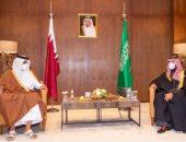 ولى العهد السعودى يبحث مع أمير قطر العلاقات الثنائية.. صور