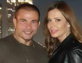 """عمرو دياب وإيمى سالم.. قصة صور هزت عرش السوشيال ميديا """"فيديو"""""""