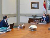 السيسى يستعرض مع رئيس المخابرات العامة التطورات الخاصة بملفات الأمن القومى.. أخبار مصر
