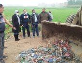 رئيسة مدينة أجا بالدقهلية تشرف على إعدام 94 شيشة ضبطت بكافيهات مخالفة