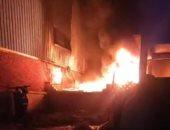 الحماية المدنية بالقليوبية تسيطر على حريق بورشة دعاية وإعلان بطوخ