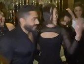 تامر حسنى يرقص مع زوجته بسمة بوسيل على أغنية la casa de papel.. فيديو وصور