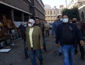 محافظ الإسكندرية يشدد على تطبيق الإجراءات الاحترازية بالأسواق.. صور