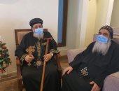 6 أساقفة يهنئون البابا تواضروس بعيد الميلاد المجيد فى دير الأنبا بيشوى