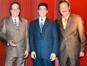 """خالد النبوى فى صورة مع فاروق الفيشاوى ومحمود ياسين: """"كنت فرحان إنى وسطهم"""""""