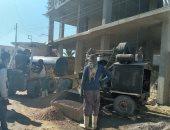 إيقاف أعمال بناء 4 عقارات بدون ترخيص فى مرسى مطروح