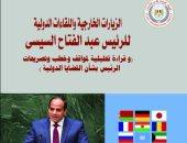 هيئة الاستعلامات: 115 قمة و1000 لقاء دولي للرئيس أعادت توازن علاقات مصر الخارجية