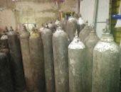 ضبط 65 أسطوانات غاز الأكسجين مجهولة المصدر داخل محل بدون ترخيص بالقاهرة