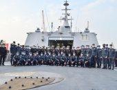 """القوات البحرية تتسلم الفرقاطة الشبحية """"بورسعيد"""" من طراز (جوويند) من ترسانة الإسكندرية"""