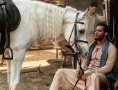 """محمد رمضان فى صورة من كواليس مسلسل """"موسى"""": """"بإذن الله مَلحمة رمضان 2021"""""""