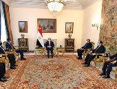 الرئيس السيسى يستقبل عضو مجلس السيادة الانتقالى السودانى على رأس وفد رفيع