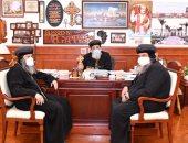 البابا تواضروس الثانى يستقبل 3 أساقفة بالكنيسة القبطية
