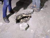 هبوط أرضى فى حدائق القبة ومحافظة القاهرة تنجح فى إصلاحه