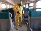 هيئة السكة الحديد تواصل أعمال تعقيم المحطات والقطارات للوقاية من كورونا.. صور