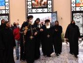 البابا تواضروس يصل دير القديس مكاريوس السكندرى لتدشين كاتدرائية جديدة.. صور