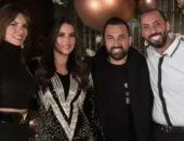 درة تحتفل بعيد ميلادها بصحبة زوجها هانى سعد وأصدقائها.. صور