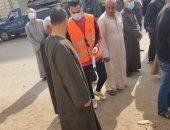 أهالى قرية مليج في المنوفية يوزعون كمامات بالمجان ويطلقون حملات توعية عن كورونا