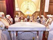 البابا تواضروس يدشين مذابح بكاتدرائية دير القديس مكاريوس السكندرى.. صور