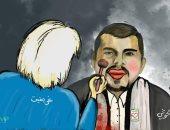 جريفيث يحاول إخفاء إرهاب الحوثى فى كاريكاتير يمنى