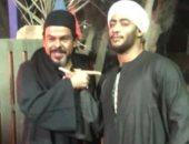 """أعداء فى المسلسل أصدقاء فى التصوير..منذر رياحنة مع محمد رمضان بكواليس """"موسى"""""""