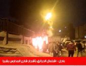 فيديو.. حريق هائل فى أشجار شارع المدارس بشبرا