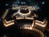 """تحفة معمارية فى العاصمة الإدارية.. الإضاءة الليلية تزين مبنى مجلس النواب""""صور"""""""